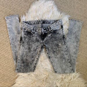 Moussy Jeans 25 skinny acid wash low-rise